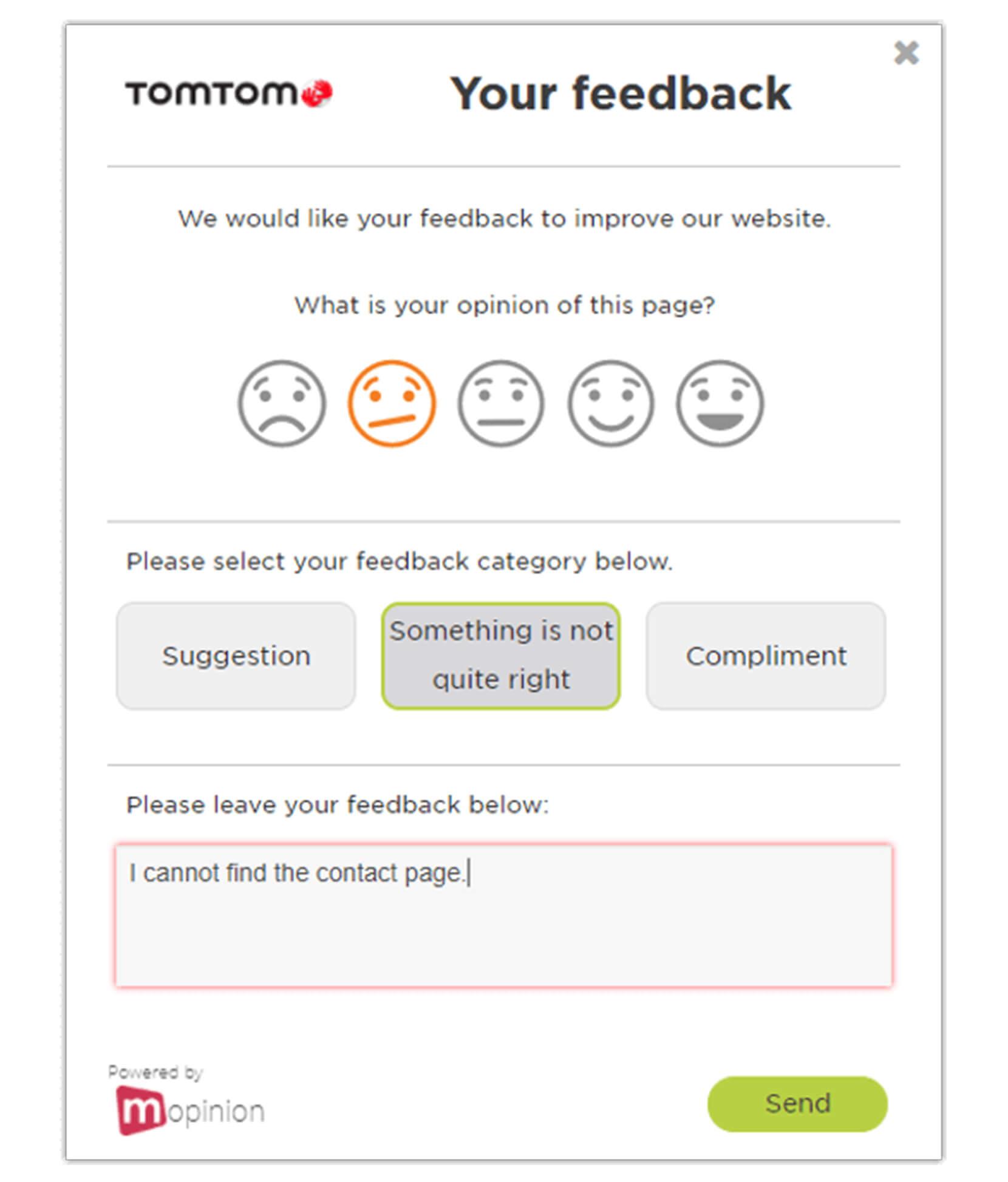 Customer Feedback Website Forms