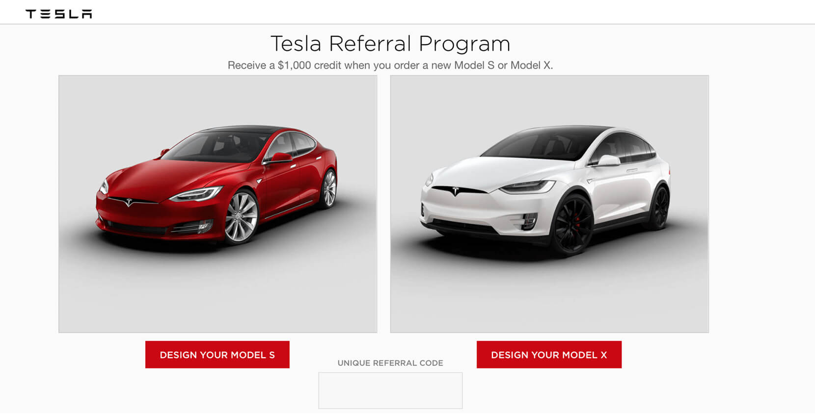 customer recommendation referral program by Tesla